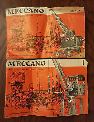 Vintage Meccano Instructions for Outfit 1 - 2/3 & another one