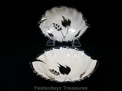 Beautiful Pair of Sweets Dishes by Lancaster & Sandland LTD Silver leaf