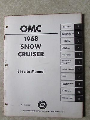 Snow Cruiser Service Manual 1968 OMC  Snowmobile Outboard Marine Co.