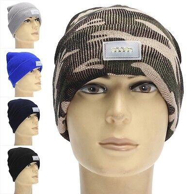 5 LED Bright Lighted Cap Winter Warm Beanie Angling Cycling Hunting .