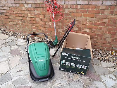 Qualcast Electric Hover Mower and Grass Trimmer with instructions