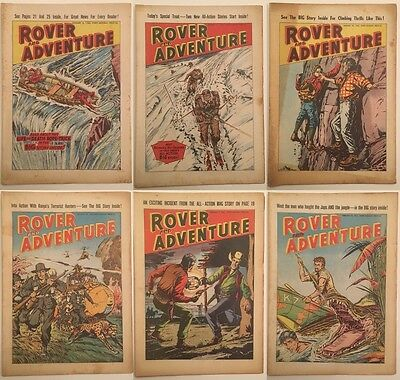 Rover and Adventure - 40 issues from 1962 - DC Thomson - Great Covers!