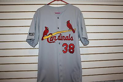 Game Used St. Louis Cardinals Marty Mason Jersey Number 38 Darryl Kile Arm Patch