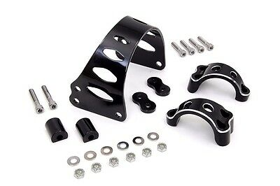 """49mm BLACK TOMAHAWK FRONT FORK BRACE FOR HARLEY FXD DYNA 2006-13 UP TO 23"""" TIRE"""