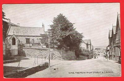 Trefriw, High Street & Church, Wales. Free P&P to UK (ref L4)