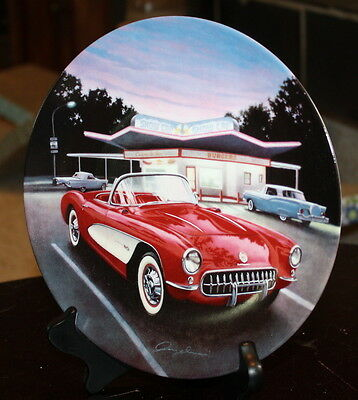 1957 Red Corvette First Collectible Plate Cars Of The Fifties Series