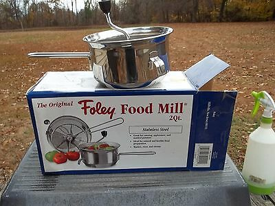 Foley 101  2 Quart Stainless Steel Food Mill Box Canning Rices Mashes Strains