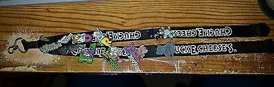 CHUCK E CHEESE Employee Manager lanyard w 11 pins RARE!