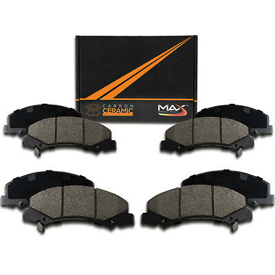 2010 2011 2012 2013 Honda Ridgeline Max Performance Ceramic Disc Brake Pads F+R