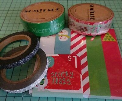 Christmas planner goodies lot sticky notes washi