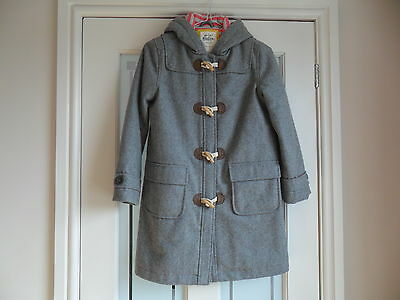 Mini Boden 9 - 10 Year Old Grey Duffle Coat Used But Lovely Condition
