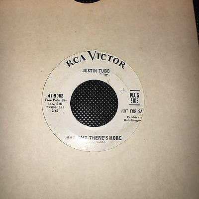"""JUSTIN TUBB But Wait There's More Original US Promo  Rare Country/ Rockabilly 7"""""""