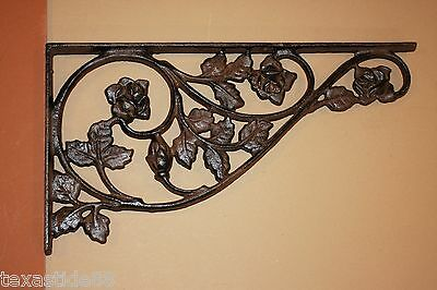 "(3)Pcs, Extra Large Shelf Brackets, 17"" Decorative Cast Iron Shelf Brackets,b-20"