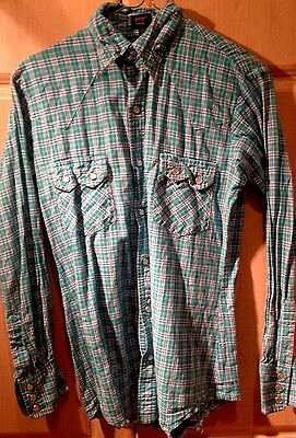 vintage mens Mod checked shirt