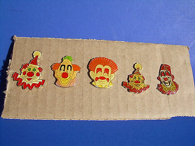 Clown Heads Vintage Pins from the 80's