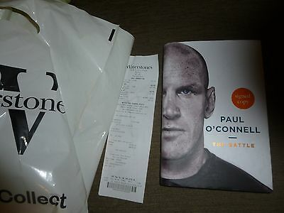 Ireland rugby 2016 Paul O'Connell signed book NEW RARE!! ideal xmas AUTOGRAPH