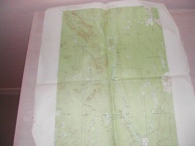 Patern, shin pond, Maine older hunting hiking map, little rough
