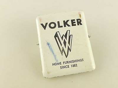 Vintage Volker VW Home Furnishings since 1882 Advertising Metal Document Clip