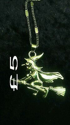 pagan wiccan necklace Witch silver
