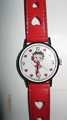 Betty Boop Watch  Red Hearts Band Japan Betty Boop Store  DOES NOT WORK