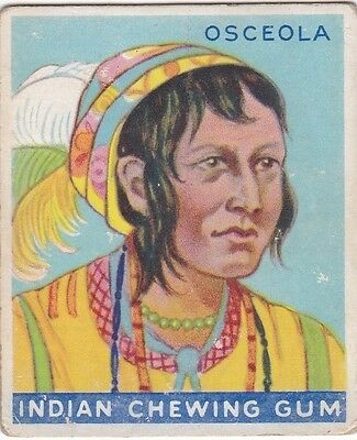 "OSCEOLA - 1933 GOUDEY GUM""indian series"" INDIAN CHEWING GUM trading card"