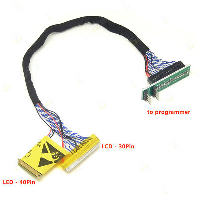 EDID Notebook LCD Screen Code Chip Data Read Line LED LCD for RT809F Programmer
