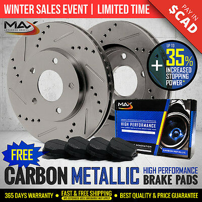2011 2012 2013 Ram 3500 Slotted Drilled Rotor Metallic Pads Rear