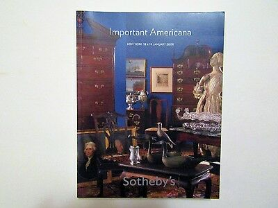 Important Americana SOTHEBY'S New York 18 & 19 January 2008 - fine early silver