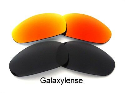 Galaxy Replacement Lenses For Oakley Juliet Sunglasses Black&Red Polarized 2Pair