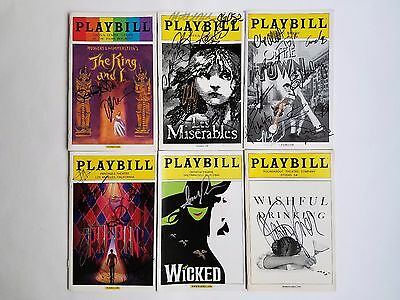 Broadway Playbills: Lot of 6 - Les Miserables, Pippin, Wicked & more!