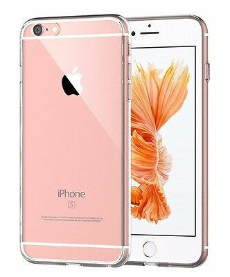 iPhone 6 6S Plus Ultra Thin Transparent Clear TPU Silicone Slim Back Cover Case
