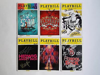 Broadway Playbills: Lot of 6 - Bright Star, Hedwig, School of Rock, and more!