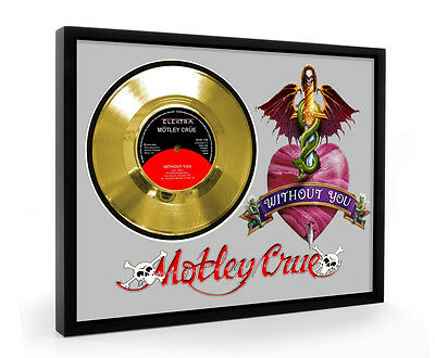 Motley Crue Without You Framed Gold Disc Display Vinyl (C1)