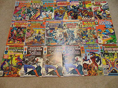 19 Marvel Bronze Age Mixed Lot Of Comic Books
