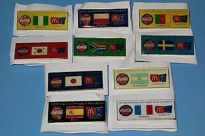 McDonald's/Coca Cola FIFA World Cup 2002 Pins Collection Complete Set of 10