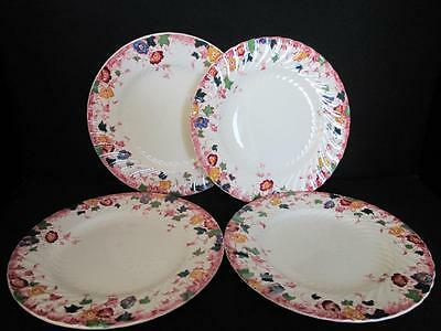 Rare Burgess & Leigh Vermont Multi Color 4 X Side Plates 1906+  Kt688