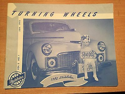 Turning Wheels The Studebaker Drivers Club Magazine 1973 Twelve Full Issues