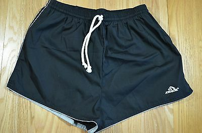Vintage Jordache Men's Short Swim Trunks Suit XL Extra Large 40-42 Black DP8