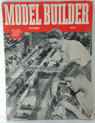 October 1944 issue of Model Builder magazine published by Lionel