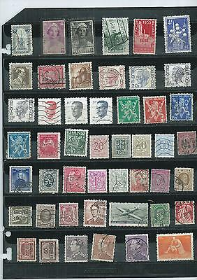 Belgium. Selection Of 48.  Used.  As Per Scan