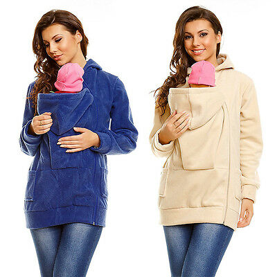 Fashion Baby Carrier Jacket Kangaroo Maternity Outerwear Coat for Pregnant Women