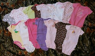 Newborn Baby Girl Bodysuit/Snapsuit/One Piece Lot