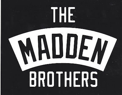 THE MADDEN BROTHERS STICKER 2014 Greetings From California OFFICIAL PROMO MINT