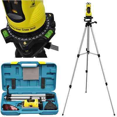 New Self Leveling Rotary Rotating Laser Level Red Beam Cross Line Tripod Stand