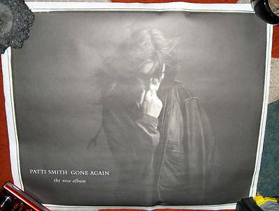 PATTI SMITH Gone Again POSTER RARE Classic Punk Rock Promo Dual Sided Past Mast