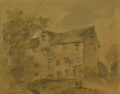 A.G.D. - Early 20th Century Graphite Drawing, Old House
