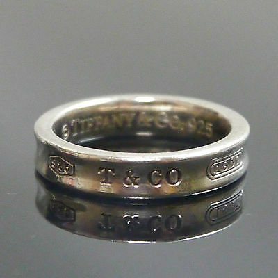 Authentic Tiffany & Co. Ring 1837 #5 Sterling Silver #8516