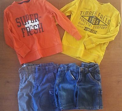 Boys Long Sleeve and Shorts Lot Size 4T 4 5 - Old Navy, Cherokee, Levi's