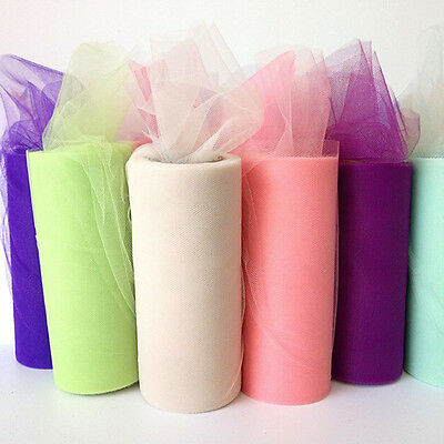 22m*15cm Wedding Organza Table Runners Decoration Yarn Roll Tulle Supplies