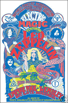 LED ZEPPELIN Empire Pool Wembley 1971 Concert Poster